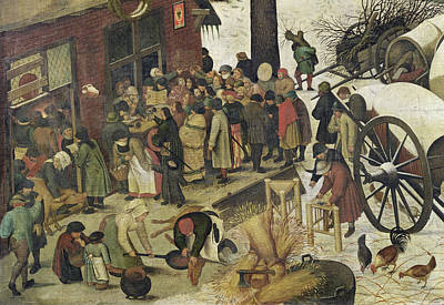 The Census At Bethlehem Art Print by Bruegel