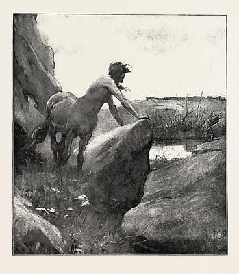 Centaur Drawing - The Centaur by English School