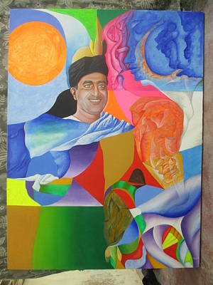 Mak Art Painting - The Centennial Of The Ghani Khan by Mak