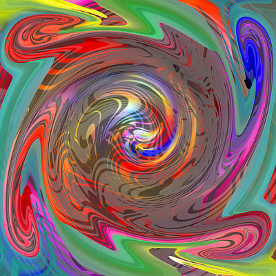 Digital Art - The Center Of The Color Wheel by rd Erickson