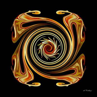 Digital Art - The Center Swirl by rd Erickson