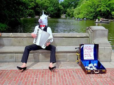 Photograph - The Central Park Unicorn by Ed Weidman