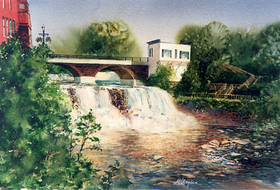 The Chagrin Falls In Summer Art Print
