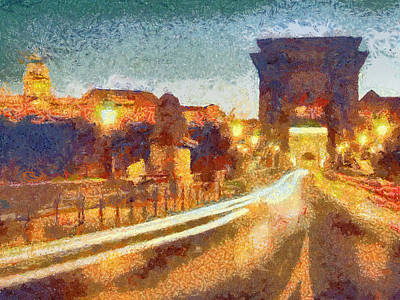 The Chain Bridge Art Print