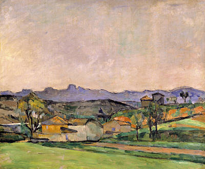 The Chaine De Letoile With The Pilon Du Art Print by Paul Cezanne