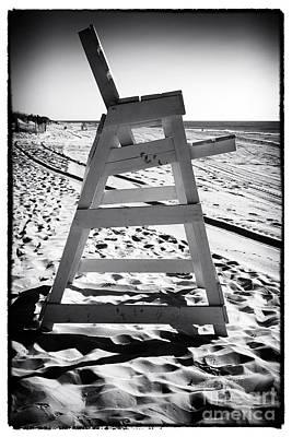 Empty Chairs Photograph - The Chair At Lbi by John Rizzuto