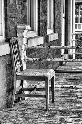Photograph - The Chair Bw by JC Findley