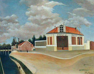 Rousseau Painting - The Chair Factory At Alfortville by Henri Rousseau