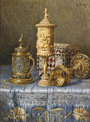 Table Cloth Painting - The Chalice by Mountain Dreams