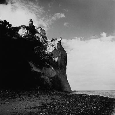 Natural World Photograph - The Chalk Cliffs by Horst P. Horst