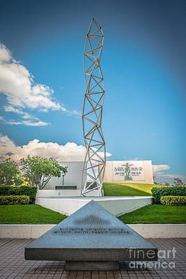 Bayfront Park Photograph - The Challenger Memorial 2 - Bayfront Park - Miami by Ian Monk