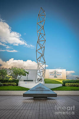 The Challenger Memorial - Bayfront Park - Miami - Hdr Style Art Print by Ian Monk
