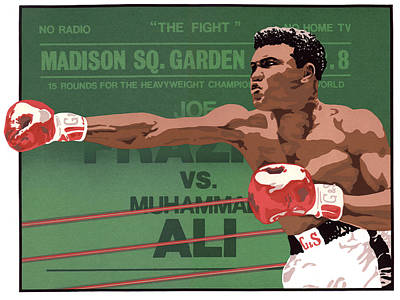 The Champ Print by Anne Gifford