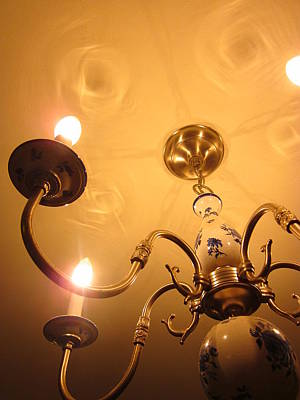 Photograph - The Chandelier Glowed Blessings by Guy Ricketts