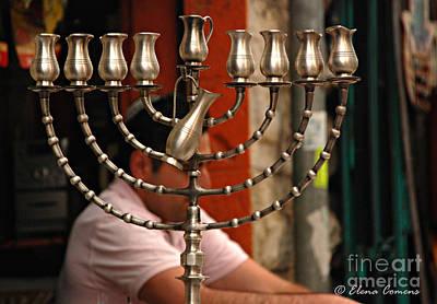 Hanukah Photograph - The Chanukiah by Elena Comens