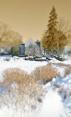 Connecticut Winter Photograph - The Chapel by Diana Angstadt