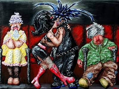 The Chaperones At The Movies Art Print by Alison  Galvan