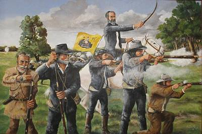 The Charge At San Jacinto Art Print by Bob Hallmark