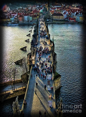 Photograph - The Charles Bridge by Lee Dos Santos