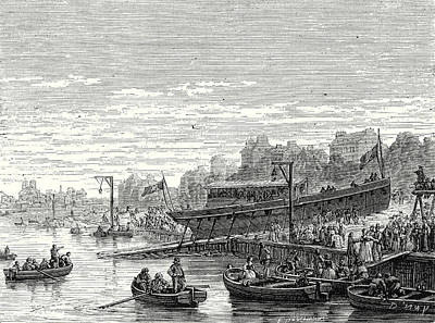 The Charles-philippe Launched On The Seine At Bercy Art Print