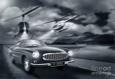 Car Chase Digital Art - The Chase 2 by Linton Hart