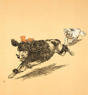 Paws Painting - The Chase by Cecil Charles Windsor Aldin
