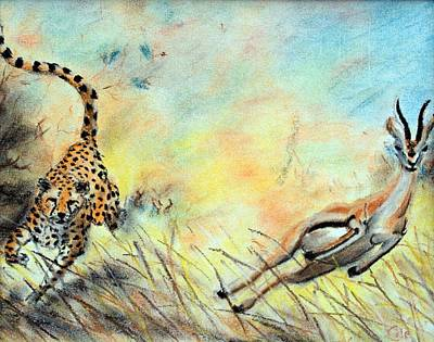 The Chase Is On Art Print by Nathan Cole