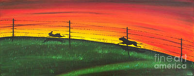 Painting - The Chase by Kenneth Clarke