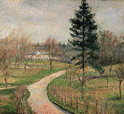 Park Scene Painting - The Chateau At Busagny by Camille Pissarro
