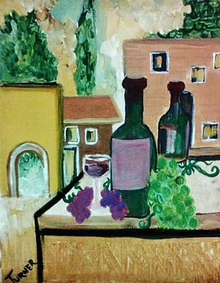Napa Valley Vineyard Painting - The Chateau Winery by Kelly Turner