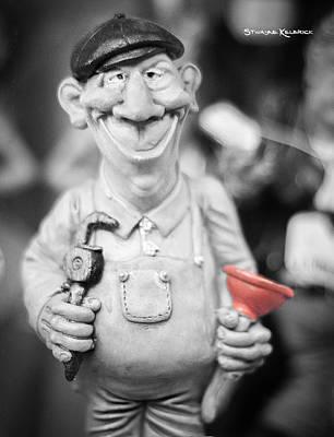 The Cheerful Plumber Original by Stwayne Keubrick