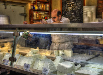 Photograph - The Cheese Maker - Feta Cheese by Joann Vitali
