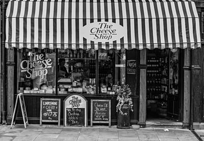 The Cheese Shop In Black And White Art Print