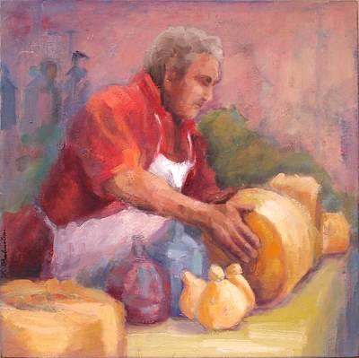 The Cheese Vendor Original by Pamela Rubinstein
