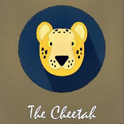 Cheetah Digital Art - The Cheetah Cute Portrait by Florian Rodarte