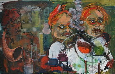 Painting - The Chemists by Dan Koon