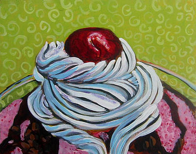 The Cherry On Top Art Print by Tilly Strauss