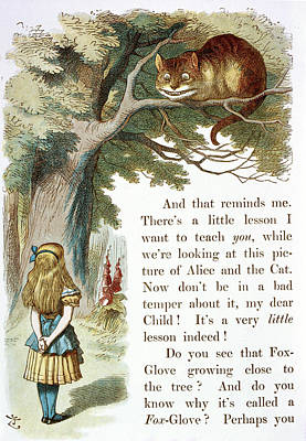 The Cheshire Cat Print by British Library