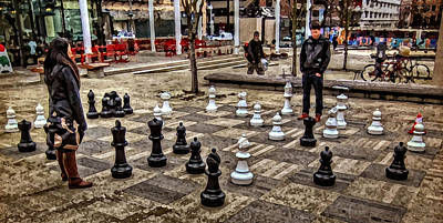 Photograph - The Chess Match In Pdx by Thom Zehrfeld