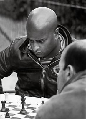The Chess Player Art Print by Bernard  Barcos