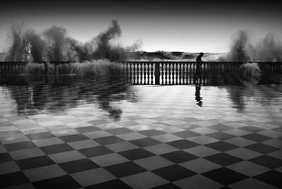 Checkers Photograph - The Chessplayer by Paolo Lazzarotti