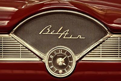 The Chevy Bel Air Dash Art Print by Martin Bergsma
