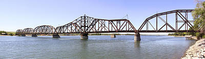 The Chicago And North Western Railroad Bridge Panoramic Print by Mike McGlothlen