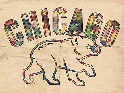 Chicago Cubs Painting - The Chicago Cubs by Florian Rodarte