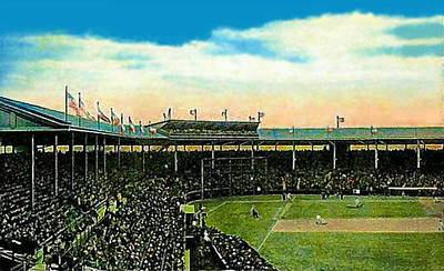 The Chicago Cubs Wrigley Field Around 1920 Art Print by Dwight Goss