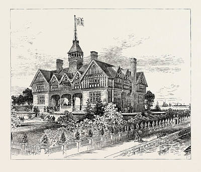Commission Work Drawing - The Chicago Exhibition The Offices Of The British Commission by American School