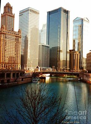 The Chicago River From The Michigan Avenue Bridge Art Print