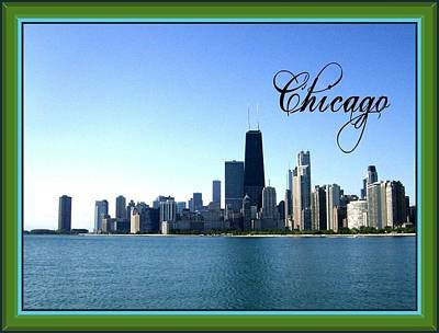 The View Mixed Media - The Chicago Skyline by Skyler Tipton