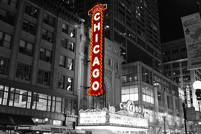 The Chicago Theatre Art Print by Jerome Lynch