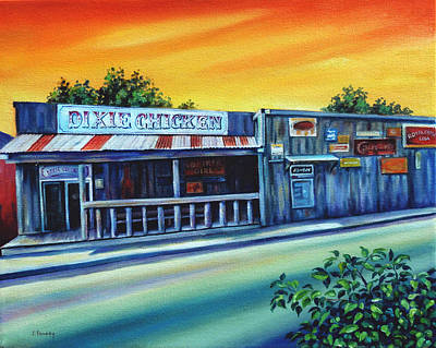 Dixie Painting - The Chicken At Aggieland by Jill Pankey